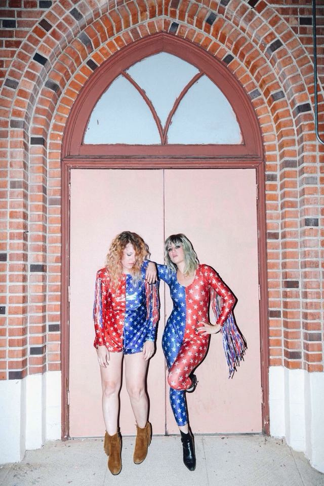 Deap Vally Echo Park Rising Costumes by Michelle Rose Photo by Robiee Z Photography for Rogue Magazine