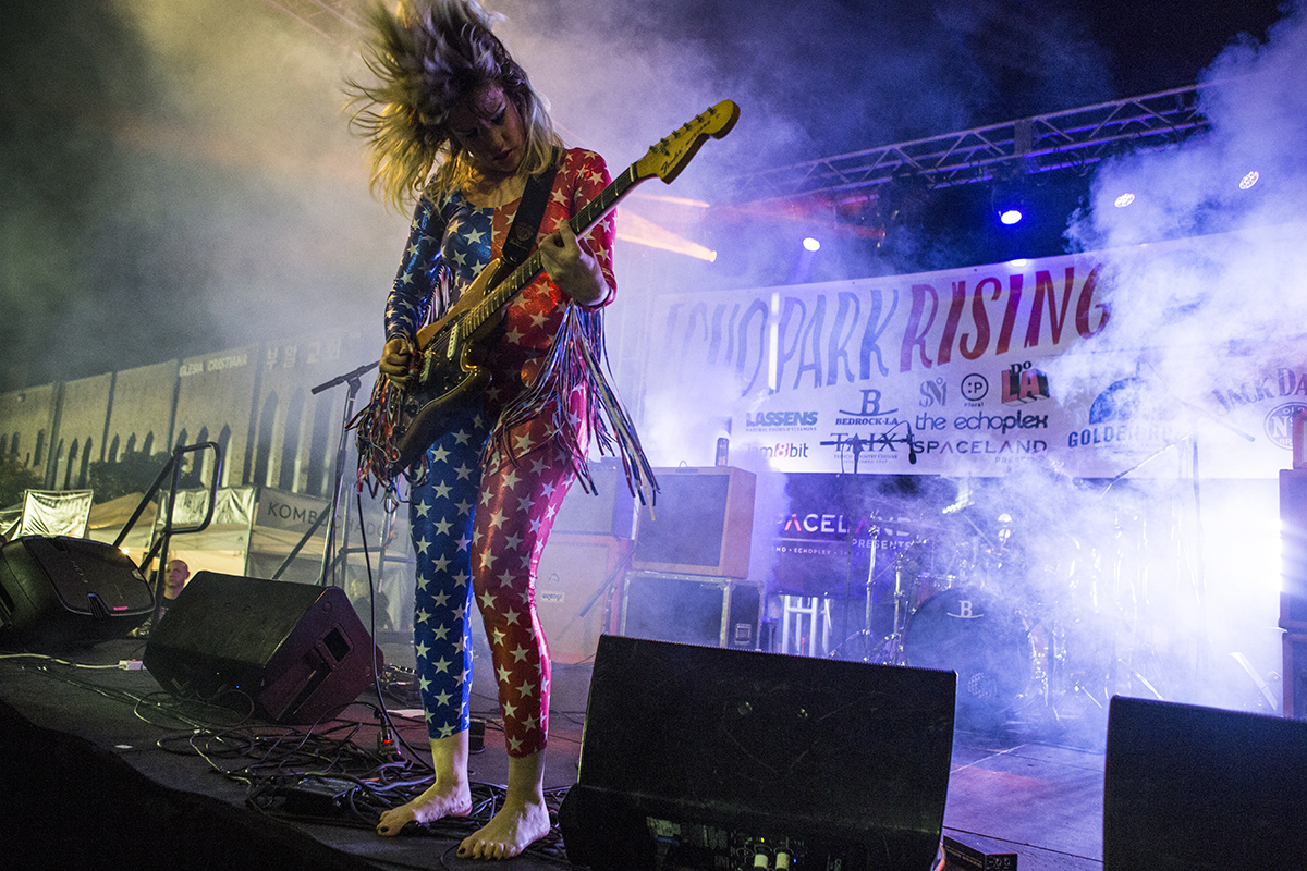 Deap Vally Echo Park Rising Stage Costumes by Michelle Rose Photo by Free Bike Valey