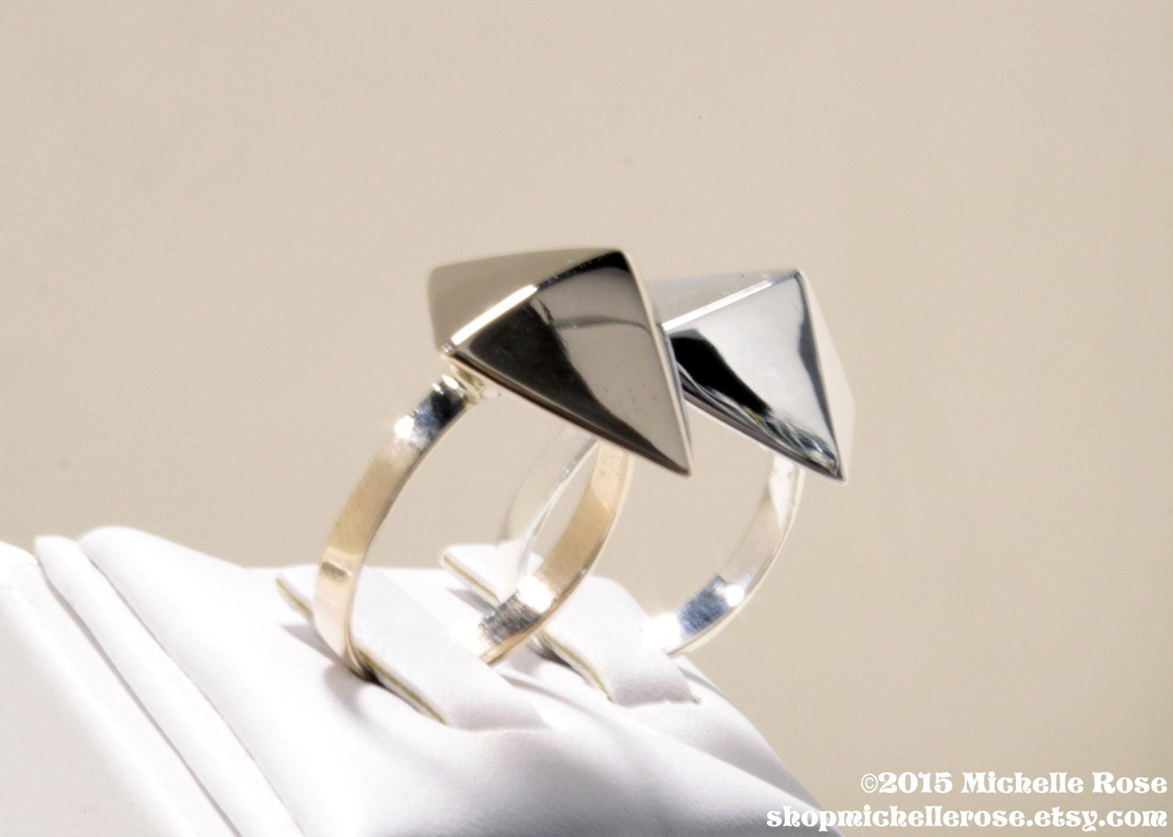 Pyramid Power Ring by Michelle Rose