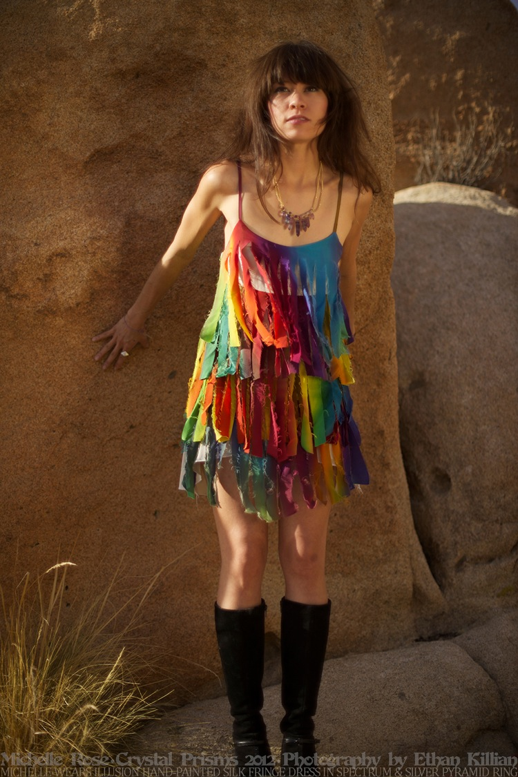 Michelle Rose Fashion Design Los Angeles Designer Rainbow Dress